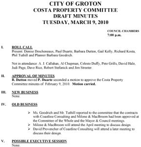 Icon of Costa Property Committee 03-09-10