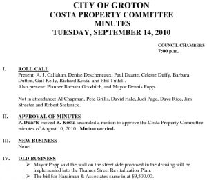 Icon of Costa Property Committee 09-14-10