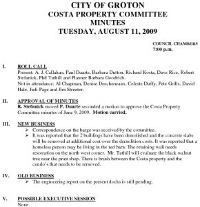 Icon of Costa Property Committee 08-11-09