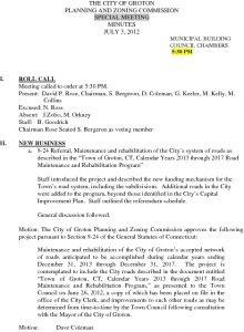 Icon of Planning And Zoning Commission 07-03-12