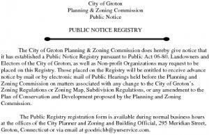 Icon of Public Notice Registry