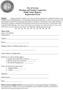 Icon of Public Notice Registry Application Form
