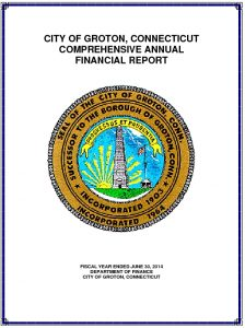 Icon of 2014 Comprehensive Annual Financial Report