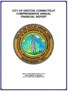 Icon of 2011 Comprehensive Annual Financial Report