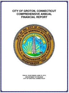 Icon of 2012 Comprehensive Annual Financial Report