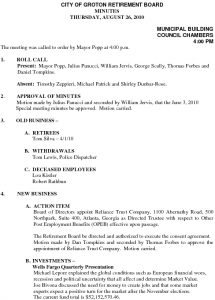 Icon of City of Groton Retirement Board 8-26-10