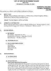 Icon of City of Groton Retirement Board 11-29-2012