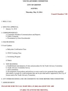 Icon of Youth Advisory Committee Agenda-May 15 2014