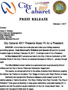 Icon of City Cabaret 2017 Andy Sherwood's Dixieland Jazz Quartet