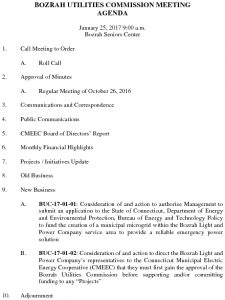 Icon of Bozrah Utilities Commission AGENDA 012517- DRAFT