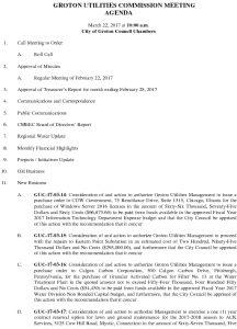 Groton Utilities Commission AGENDA 032217 DRAFT
