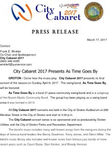 Icon of City Cabaret 2017 As Time Goes By