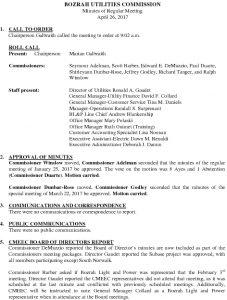 Icon of Bozrah Utilities Commission Meeting Minutes 042617