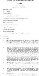 Groton Utilities Commission AGENDA 062817
