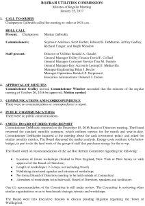 Icon of Bozrah Utilities Commission Meeting Minutes 012517