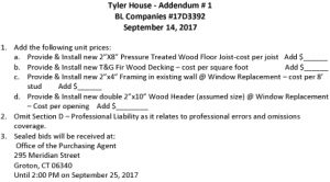 Icon of Tyler House Addendum 1