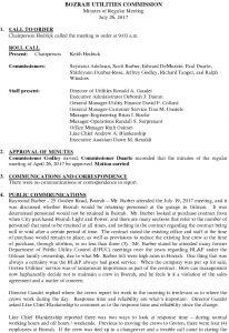 Icon of Bozrah Utilities Commission Meeting Minutes 072617