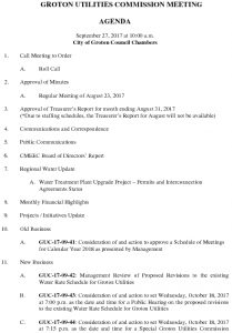 Groton Utilities Commission AGENDA 092717