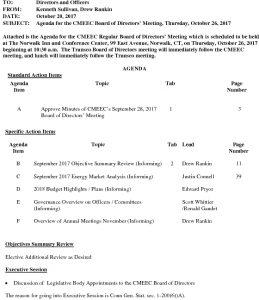 CMEEC  Board Agenda 10-26-2017 DR
