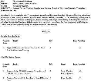 Icon of 11-16-2017 Transco Regular And Annual Meeting Agenda MJ Draft