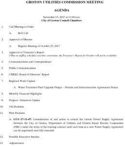 Groton Utilities Commission AGENDA 111517