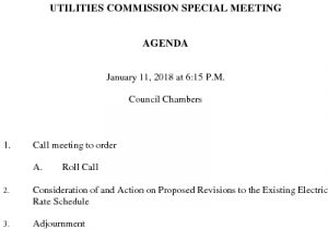 Groton Utilities Commission SP MEETING For ELECTRIC RATES 011118