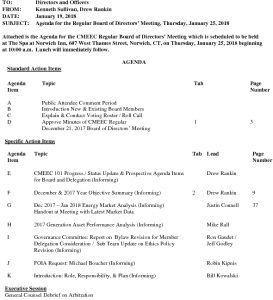 CMEEC Board Agenda 01-25-2018 DR Final