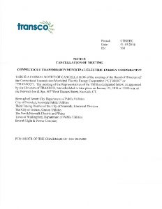 TRANSCO Cancellation 01-25-2018