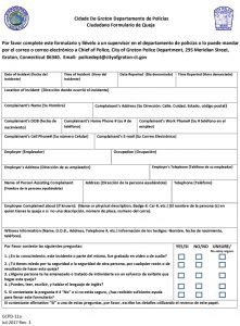 Icon of Civilian Complaint Form (Español)