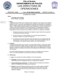 Icon of Customer Complaints  Policy (Español)