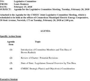 02-20-2018 Legislative Committee Agenda