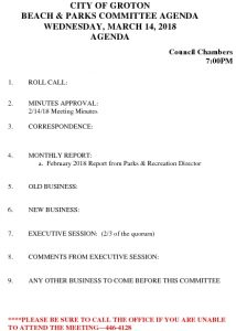Icon of Beach And Parks Committee Agenda Mar 2018