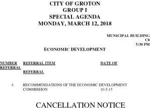 3-12-18 ED Cancellation