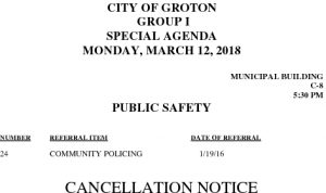 3-12-18 PS Cancellation