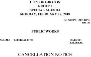 3-12-18 PW Cancellation