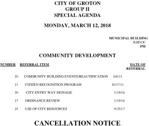 3-12-18 CD Cancellation