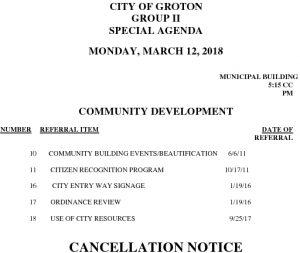3-12-18 CD Cancellation