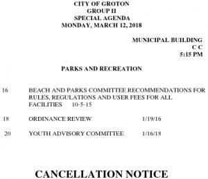 3-12-18 PR Cancellation Notice