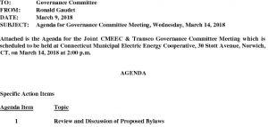 CMEEC Governance Committee Agenda 03-14-2018