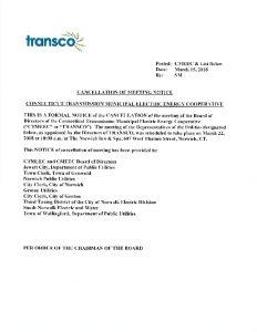 TRANSCO Cancellation Notice 03-22-2018