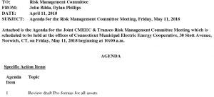 CMEEC Risk Management Committee  Meeting Agenda 05-11-2018