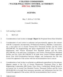 Groton Utilities Commission - WPCA SP MEETING 050718