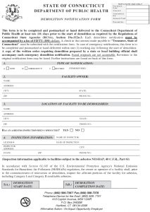 Icon of State Of CT Demolitoin Notification Form