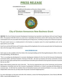 Icon of PRESS RELEASE - Business Soft Cost Grant
