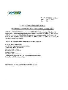 CMEEC Cancellation 07-26-2018