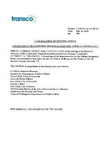 TRANSCO Cancellation 07-26-2018