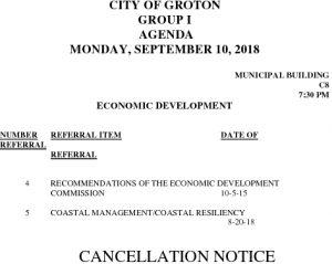 9-10-18 ED Cancellation