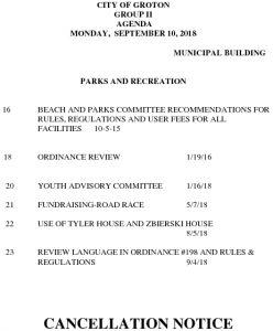 9-10-18 PR Cancellation