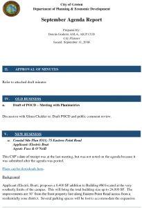 Icon of September 2018 Agenda Report