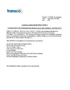 TRANSCO Cancellation 09-27-2018